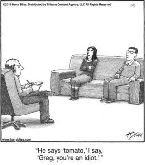 He says 'tomato.'...