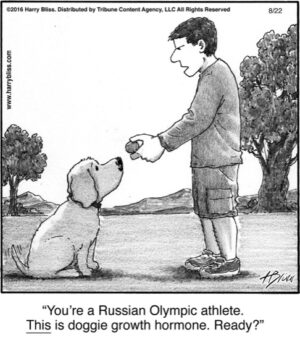You're a Russian Olympic athlete...