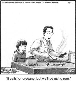 It calls for oregano...
