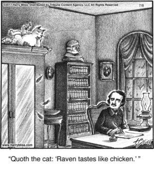 Quoth the cat...