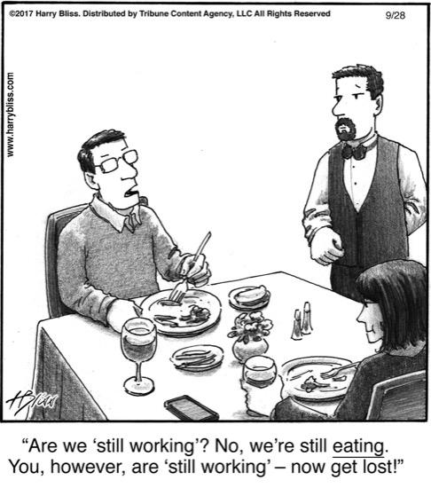 Are we 'still working'?...