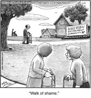 Walk of shame...