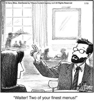 Waiter! Two of your...