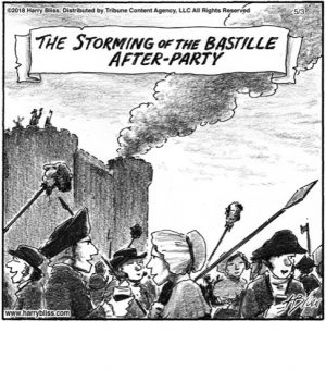 The storming of the Bastille...