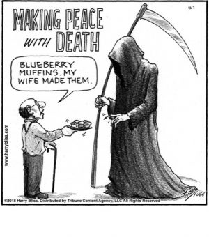 Making peace with death...