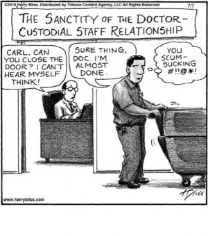 The sanctity of the doctor...