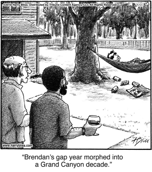 Brendan's gap year...