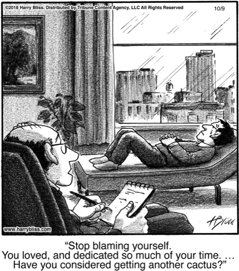 Stop blaming yourself...