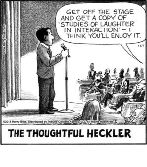 The thoughtful heckler...