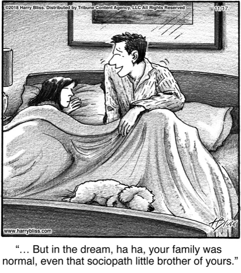 But in the dream...