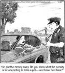 Sir, put the money away...