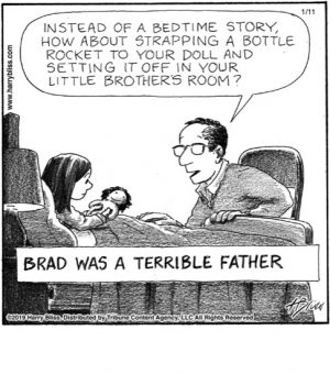 Brad was a terrible father...