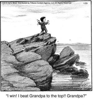 I win! I beat Grandpa...