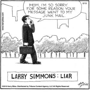Larry Simmons: Liar...