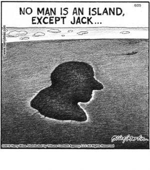 No man is an island...