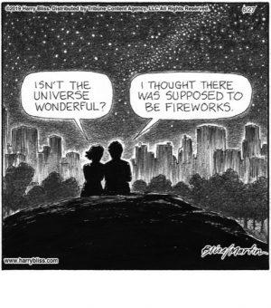 Isn't the universe wonderful?..