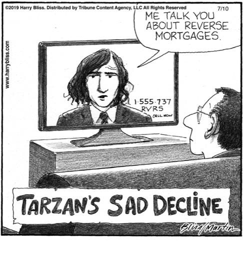Tarzan's sad decline...