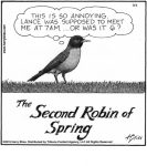 The second robin of spring...