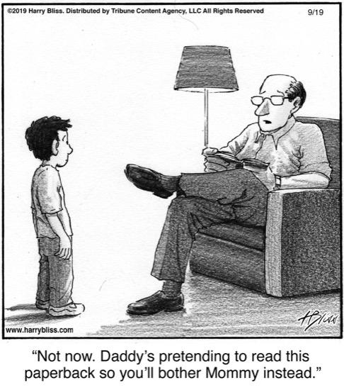 Not now. Daddy's pretending...