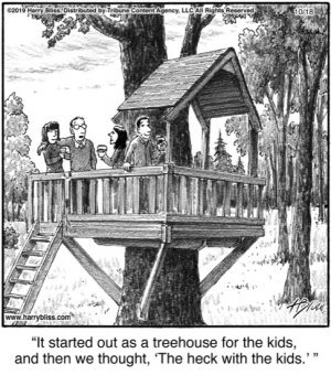 It started out as a treehouse...