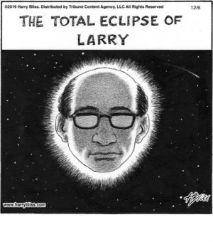 The total eclipse of Larry...