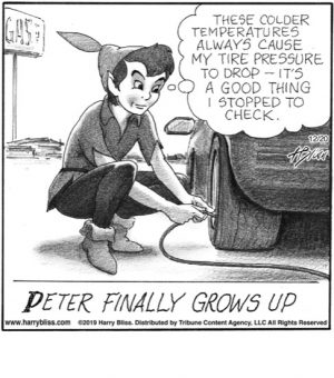 Peter finally grows up...