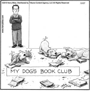 My dogs book club...