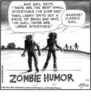 Zombie humor...