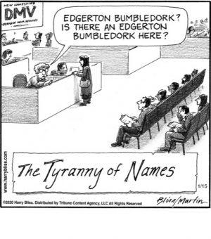 The Tyranny of names...