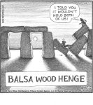 Balsa Wood Henge...