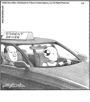 Student driver...