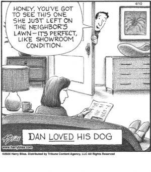 Dan LOVED his dog...