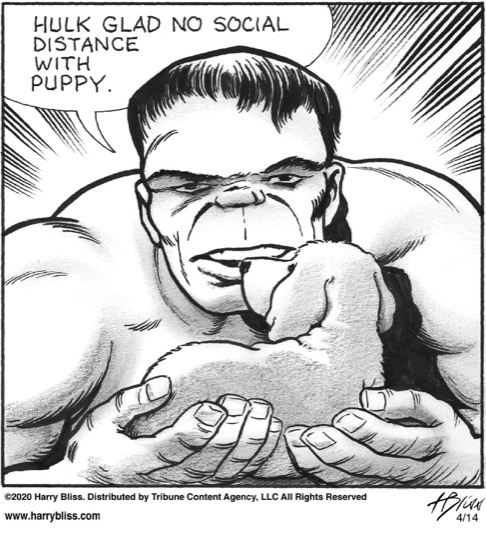Hulk glad no social distance...