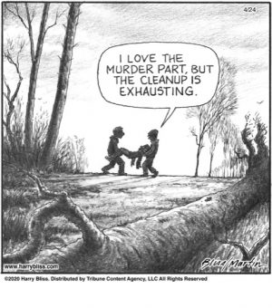 I love the murder part