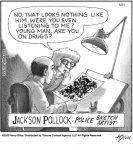 Jackson Pollock: Police sketch artist...