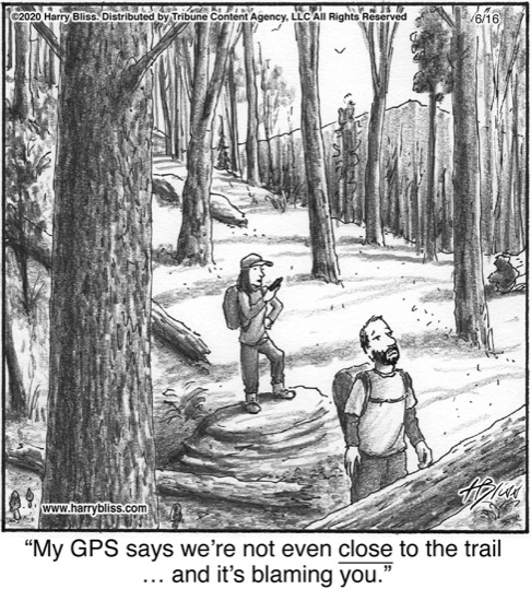 My GPS says we're not even close...