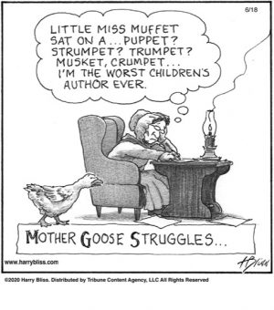 Mother Goose struggles...