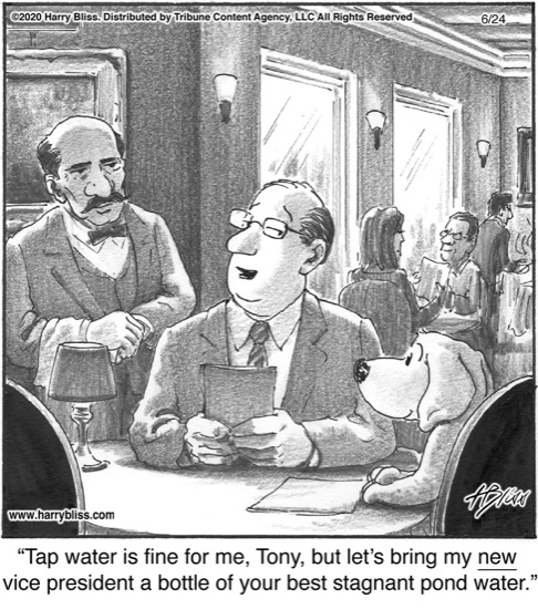 Tap water is fine for me...