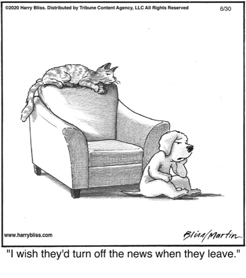 I wish they'd turn off the news...