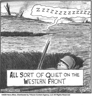 All sort of quiet on the western front...