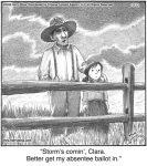 Storm's comin', Clara...