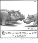 Roberta is practiced in the art...