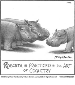 Roberta is practiced in the art...