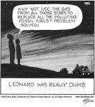 Leonard was really dumb...