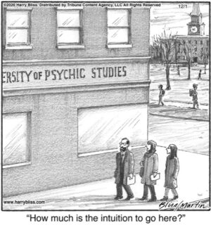 How much is the intuition...