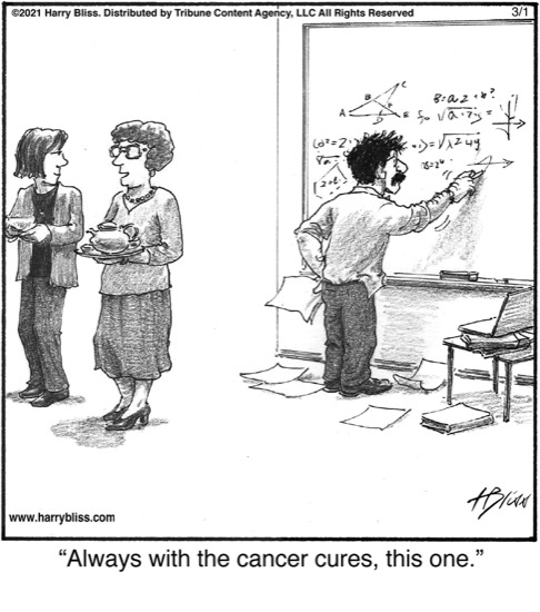Always with the cancer cures…