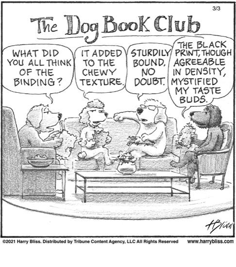 The dog book club…
