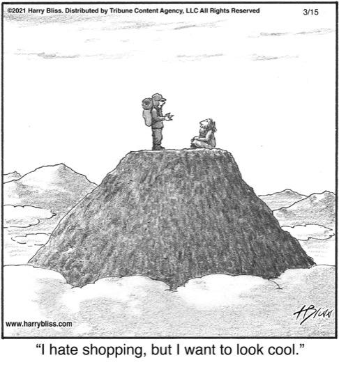 I hate shopping…