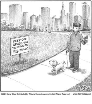 Keep off grass…