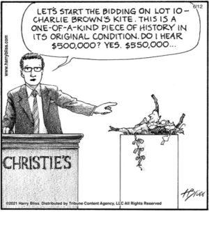 Charlie Brown's kite…